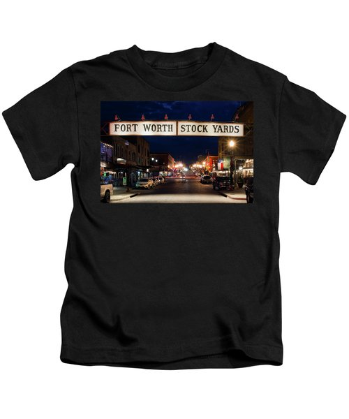 Fort Worth Stock Yards 112318 Kids T-Shirt