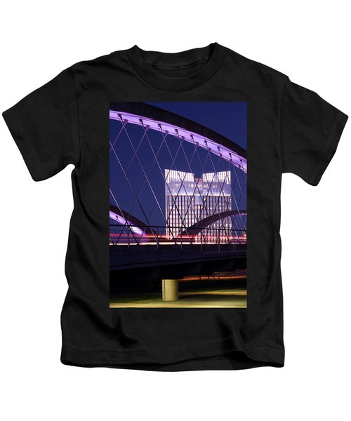 Fort Worth West Seventh Street Bridge V2 021419 Kids T-Shirt