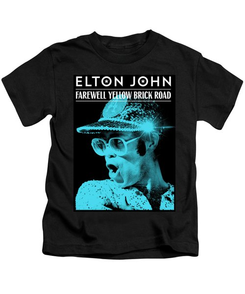 Frame Print Elton John Farewell Yellow Brick Road Iy02 Kids T-Shirt