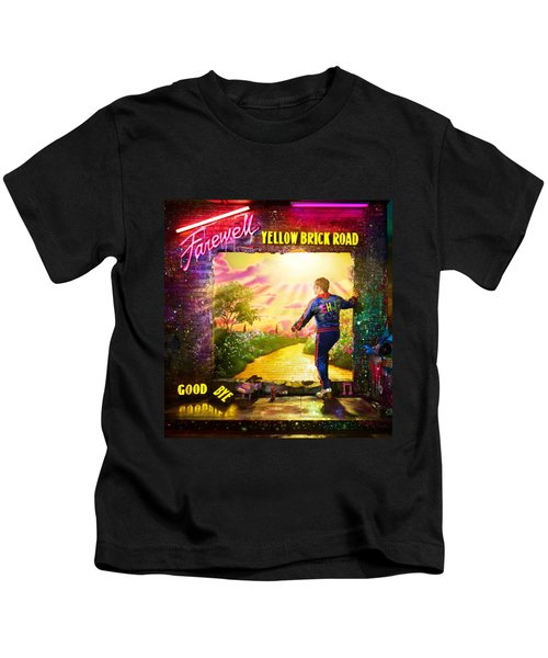 Frame Print Elton John Farewell Yellow Brick Road Tour Iy03 Kids T-Shirt