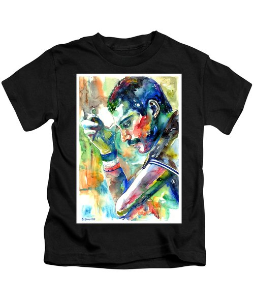 Freddie Mercury With Cigarette Kids T-Shirt