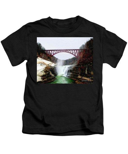 Frletchworth Railroad And Falls Kids T-Shirt