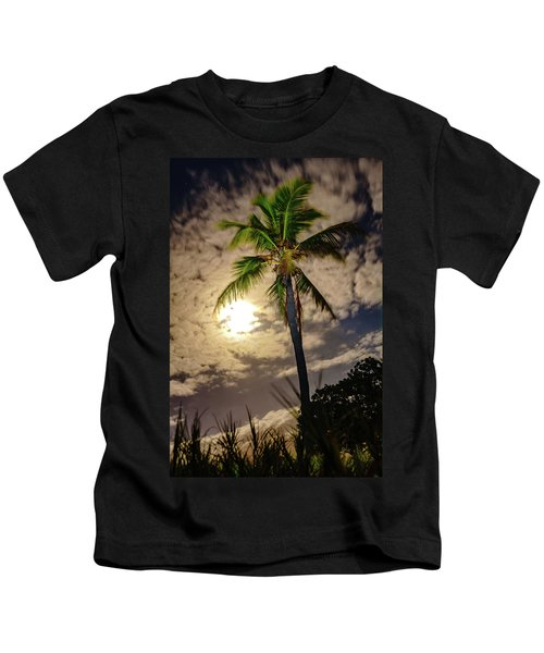 Full Moon Palm Kids T-Shirt