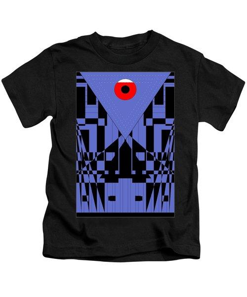 Geometric Red Dot  Kids T-Shirt