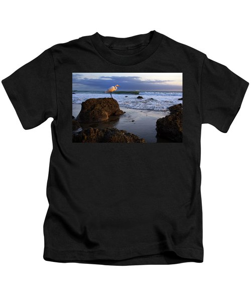 Giant Egret Kids T-Shirt