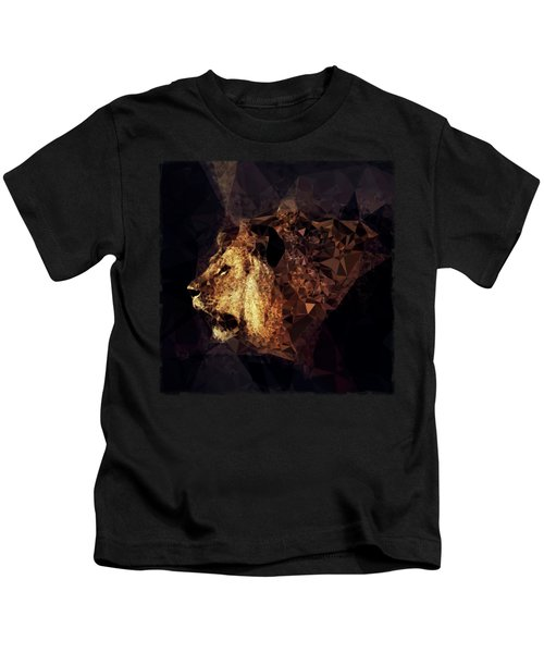 Golden Lion - Low Poly Effect Kids T-Shirt