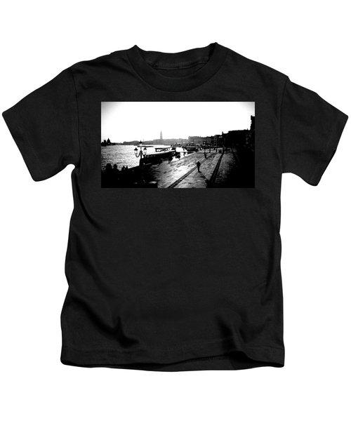 Grand Canal At Sunset Kids T-Shirt