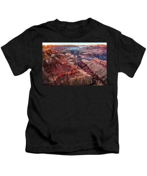 Grand Canyon Winter Sunset Kids T-Shirt