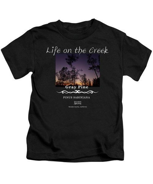 Gray Pine Kids T-Shirt