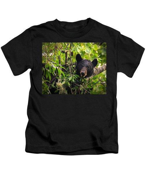 Great Smoky Mountains Bear - Black Bear Kids T-Shirt