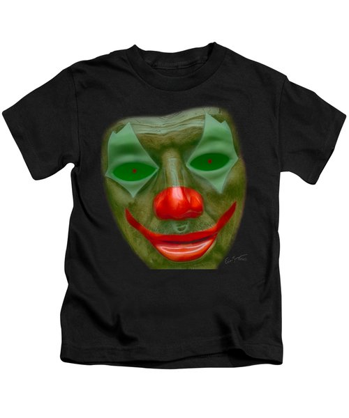 Green Clown Face Kids T-Shirt