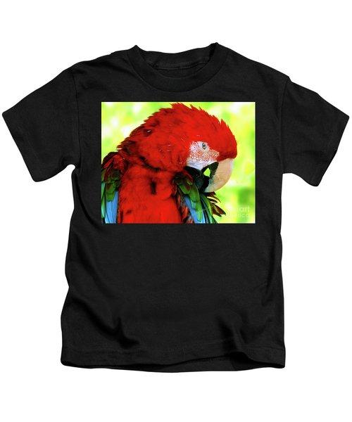 Green-winged Macaw Kids T-Shirt