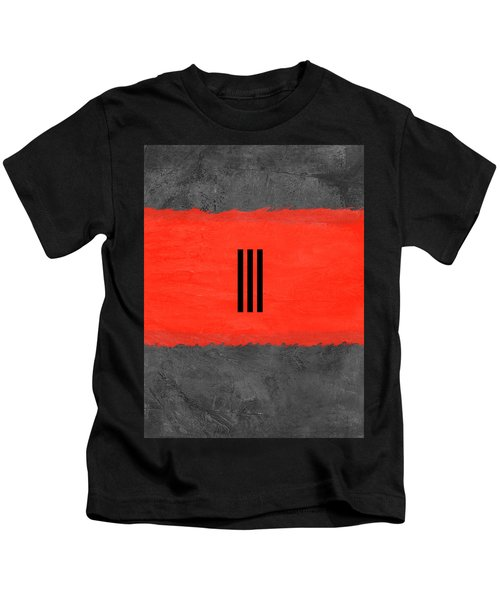 Grey And Red Abstract I Kids T-Shirt