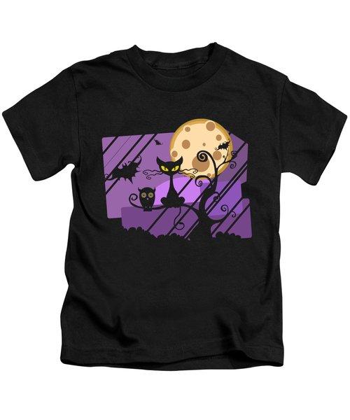 Happy Halloween Cat Kids T-Shirt