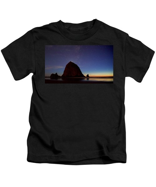 Haystack Night Sky Kids T-Shirt