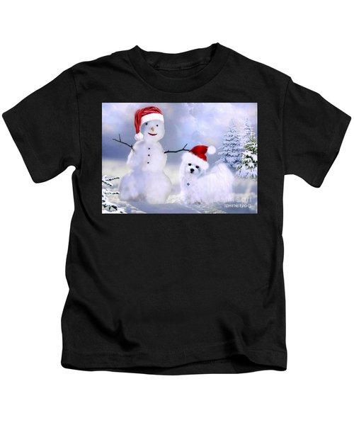 Hermes And Snowman Kids T-Shirt