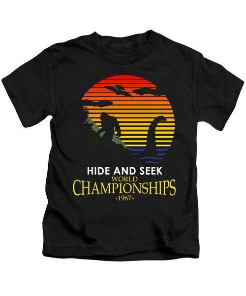 Hide And Seek World Championshios 1967 Kids T-Shirt