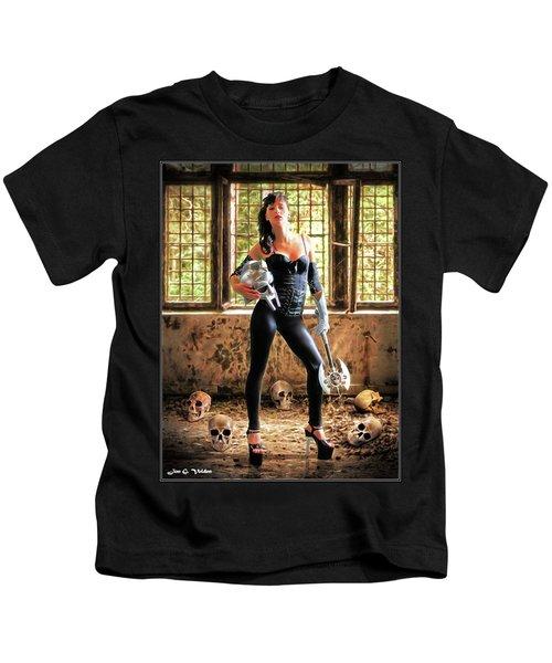High Heeled Zombie Slayer Kids T-Shirt