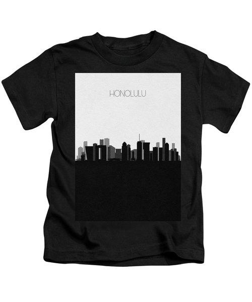 Honolulu Cityscape Art Kids T-Shirt