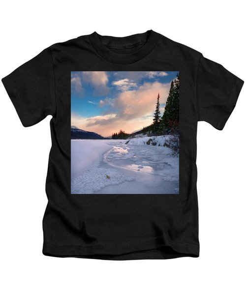Icefields Parkway Winter Morning Kids T-Shirt