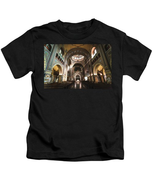 Interior Of The Votive Cathedral, Szeged, Hungary Kids T-Shirt