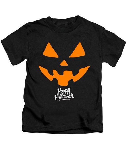 Jackolantern Pumpkin Happy Halloween Kids T-Shirt