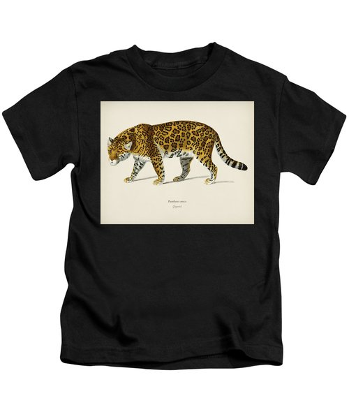 Jaguar  Panthera Onca  Illustrated By Charles Dessalines D' Orbigny  1806-1876  Kids T-Shirt