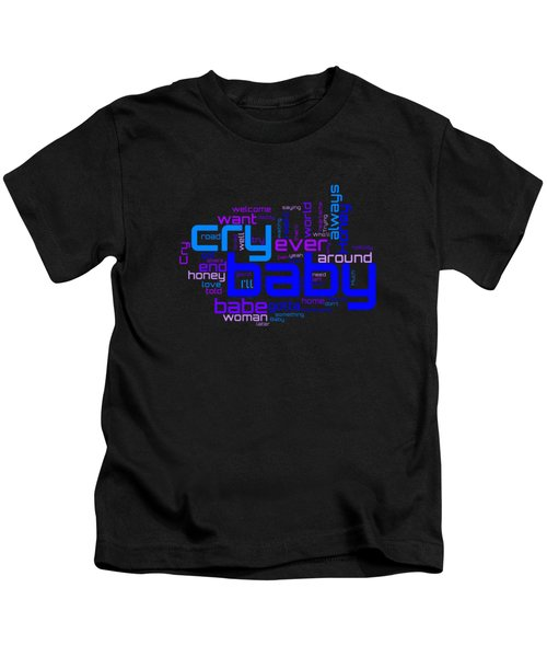 Janis Joplin - Cry Baby Lyrical Cloud Kids T-Shirt