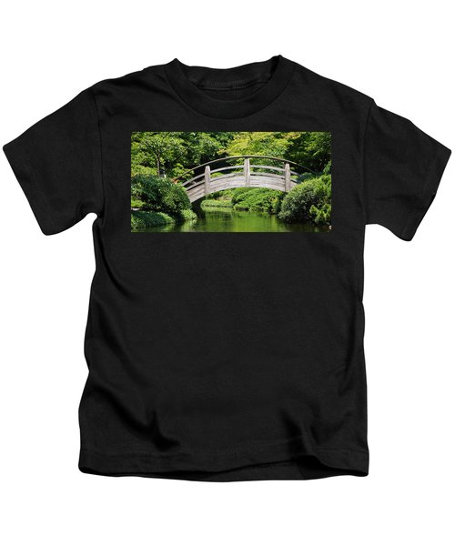 Japanese Garden Arch Bridge In Springtime Kids T-Shirt