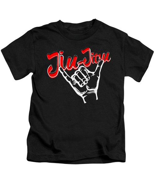 Jiu Jitsu Bjj Jiu Jitsu Rolling Hands Red Light Kids T-Shirt