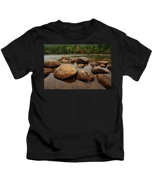 Jordon Pond Boulders Kids T-Shirt