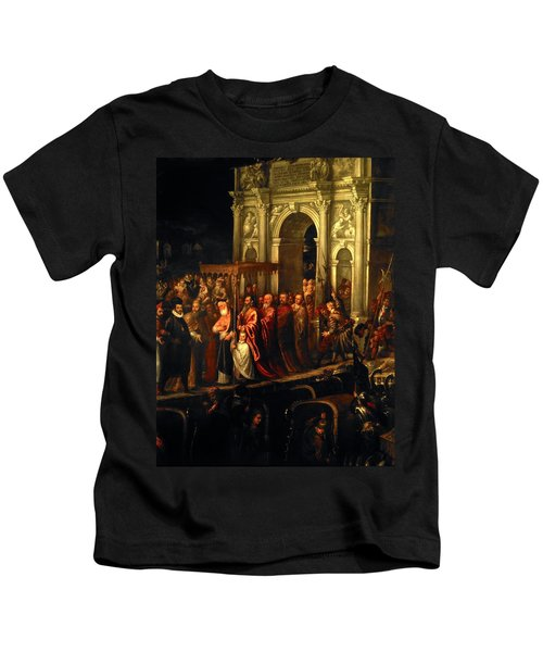 King Henry IIi Of France Being Received In Venice In 1574, 16th Century, Oil On Canvas. Kids T-Shirt