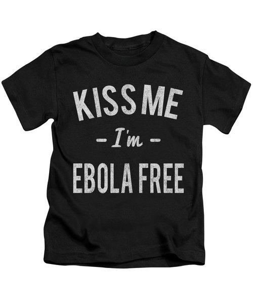 Kiss Me Im Ebola Free Vintage Kids T-Shirt