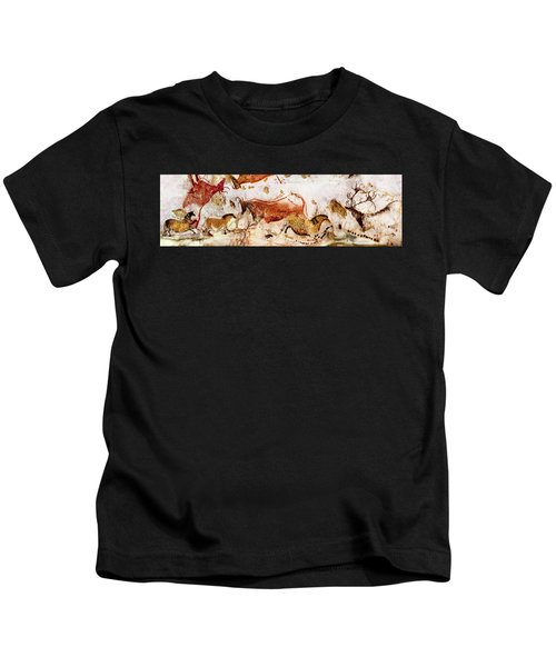 Lascaux Cows Horses And Deer Kids T-Shirt