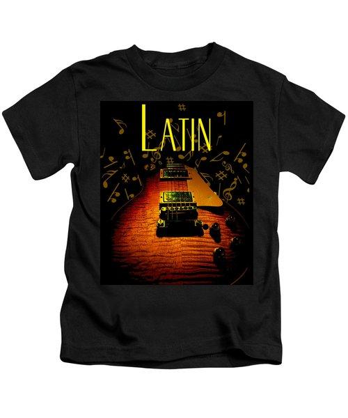 Latin Guitar Music Notes Kids T-Shirt