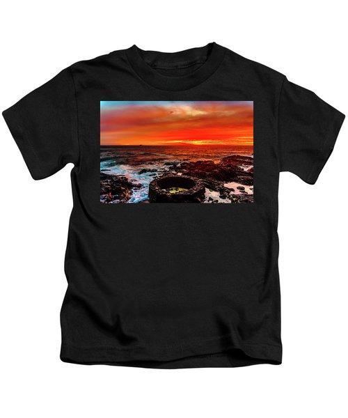 Lava Bath After Sunset Kids T-Shirt