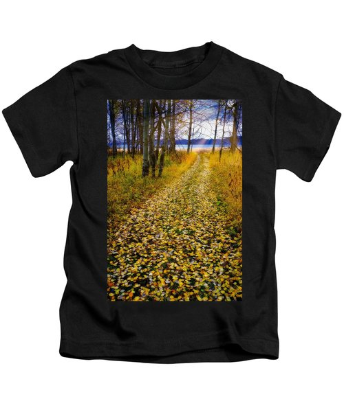 Leaves On Trail Kids T-Shirt