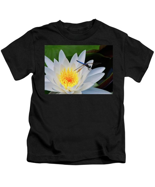 Lily And Dragonfly Kids T-Shirt