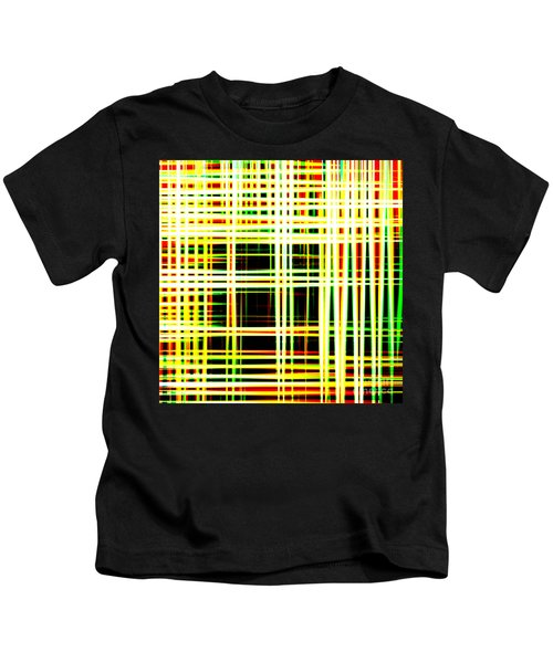 Lines And Squares In Color Waves - Plb418 Kids T-Shirt