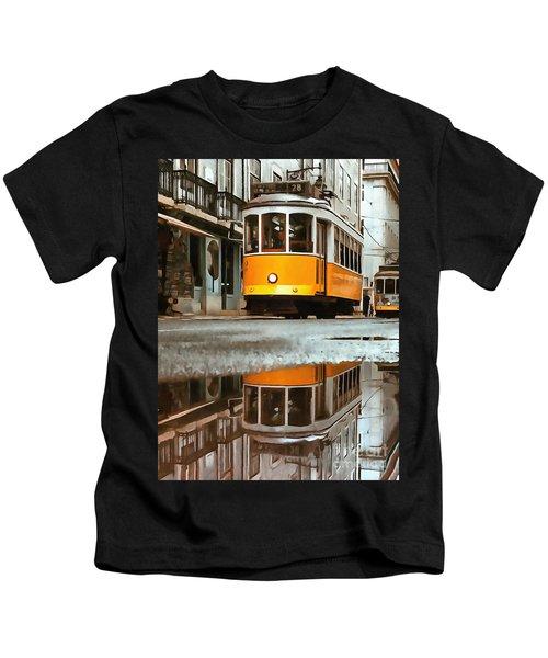 Little Yellow Trolley Kids T-Shirt