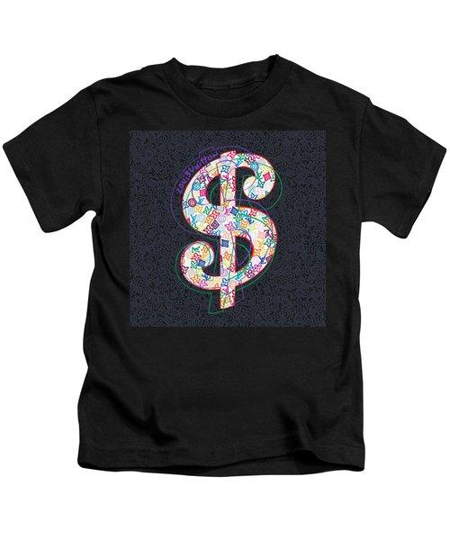 Louis Vuitton Dollar Sign-2 Kids T-Shirt