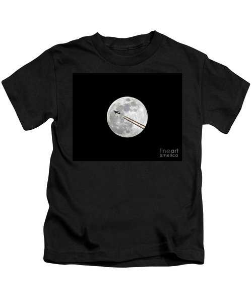 Lunar Photobomb Kids T-Shirt