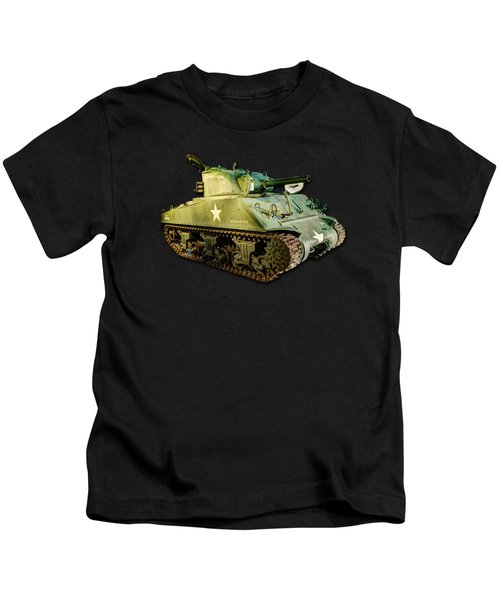 M4 Sherman Tank 2 Canvas Kids T-Shirt