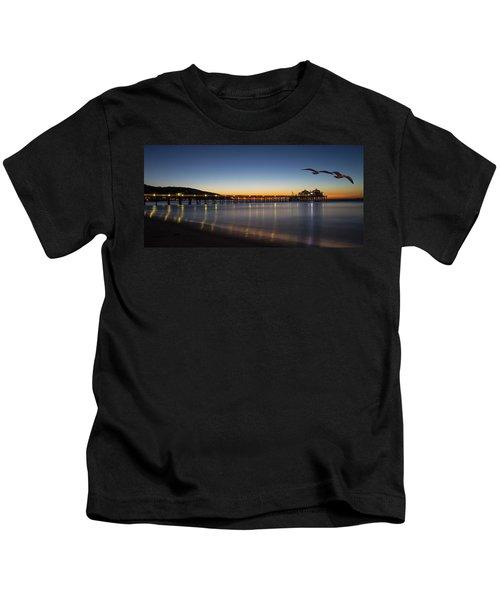 Malibu Pier At Sunrise Kids T-Shirt