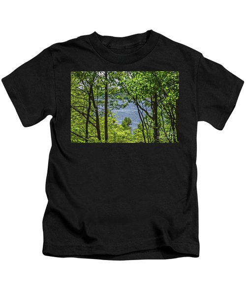 Manistee Lake Through The Trees Kids T-Shirt