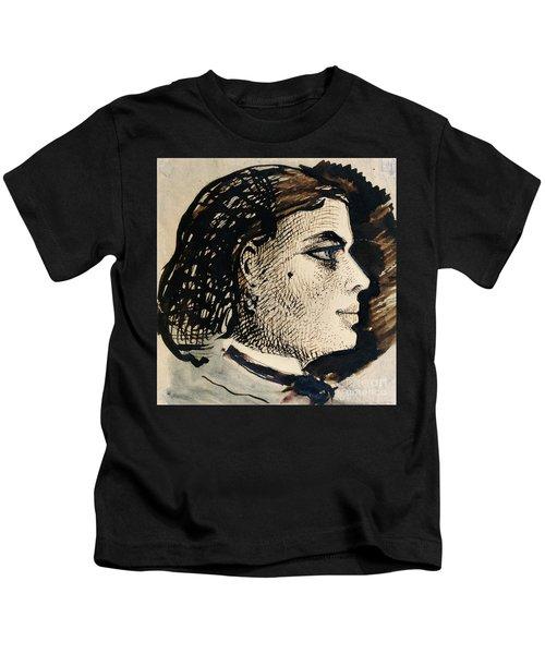 Manuscript Page With Portrait Of Berthe Kids T-Shirt