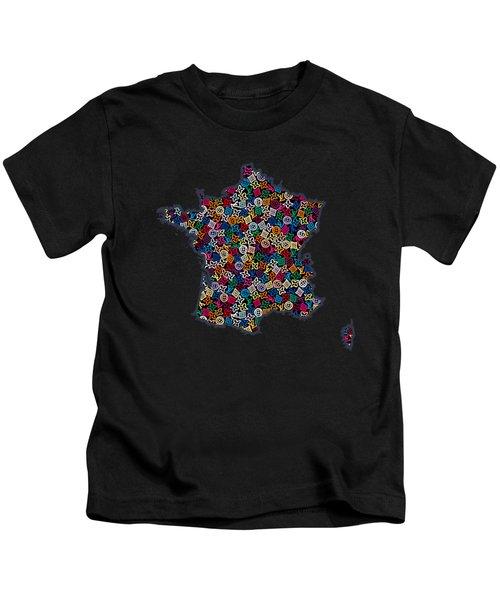 Map Of France-2 Kids T-Shirt