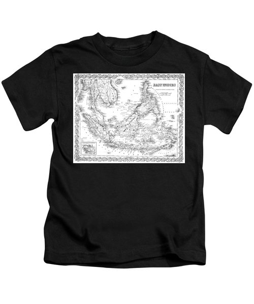 Map Of The East Indies  Engraving Kids T-Shirt