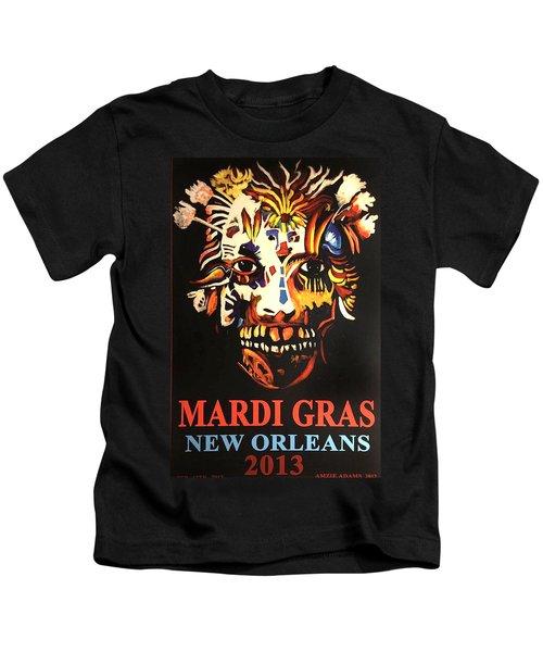 Mardi Gras Spirit 2013 Kids T-Shirt