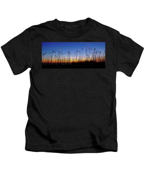 Marsh Grass Silhouette  Kids T-Shirt